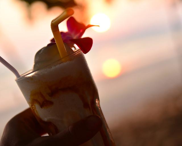 Espectaculares batidos helados que nos tomamos en la playa de Tailandia de Ao Nang