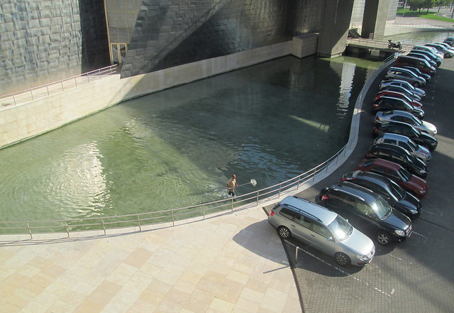 Man Clearing Waterway,  Guggenheim Museum, Bilbao