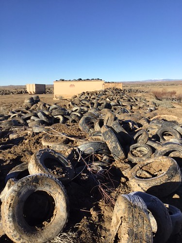 Pajarito Mesa Tire Clean Up