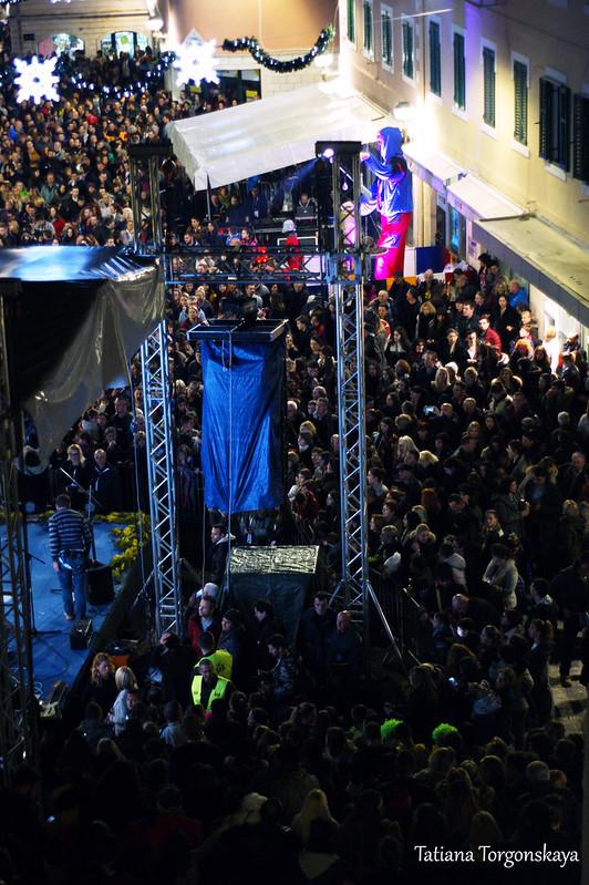 Южная часть площади Николы Джурковича во время концерта