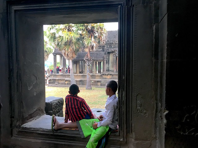 Local kids watching the tourists