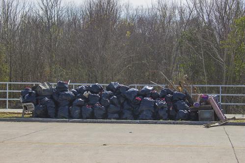The final litter pile.
