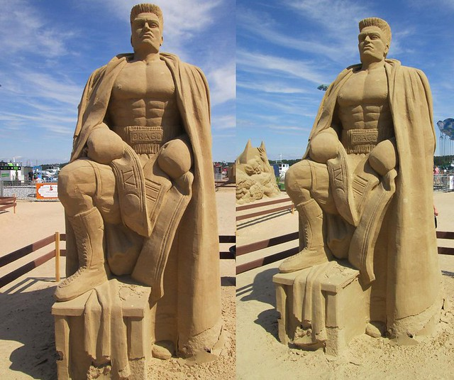 Rocky IV - Ivan Drago Sand Sculpture