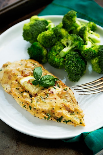 One-Skillet-Chicken-with-Lemon-Garlic-Cream-Sauce-3 | by littlespicejar