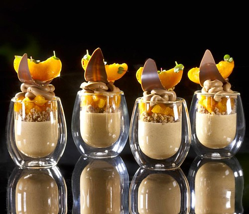 Mousse, White Chocolate Dried Apricot Streusel, Apricot Compote, Milk ...