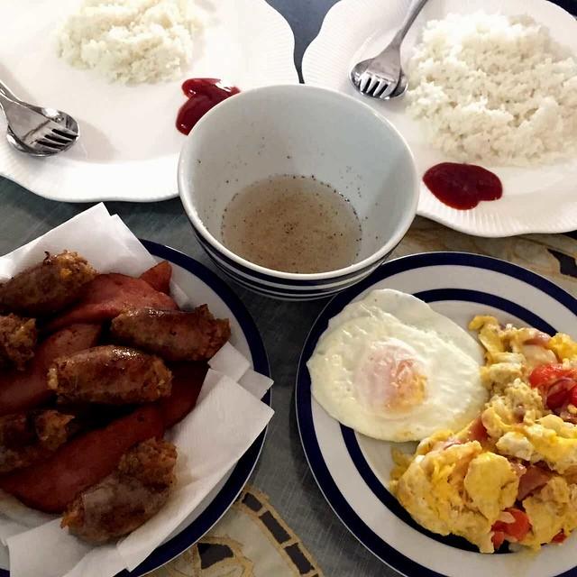 breakfast with Baguio longaniza