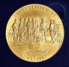 U.S. Mint Bicentennial medal obverse