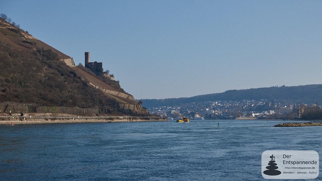 Burg Ehrenfels, Bingen mit Mäuseturm am Rhein