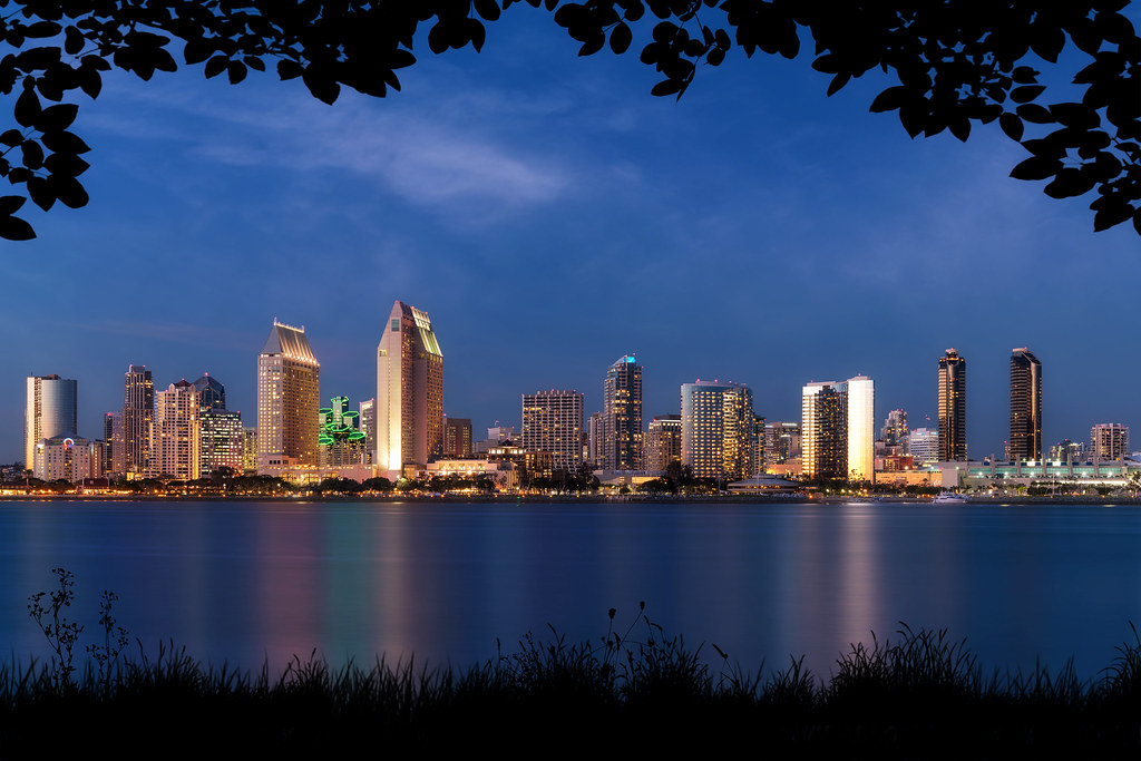 San Diego Skyline from Coronado with Silhouette Framing   Flickr