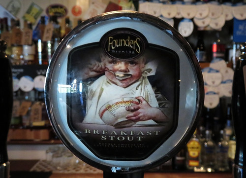 The Founders Brewing Breakfast Stout tap, our favourite beer in the Salt House, a Galway Bay craft beer pub in Galway, Ireland