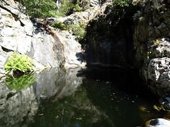 La vasque-cascade contournée en RD