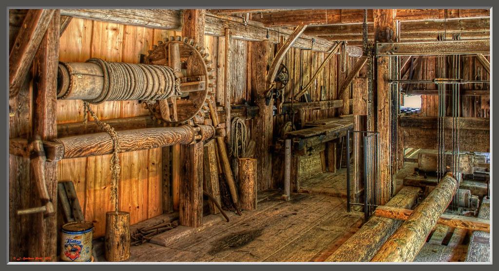 Sägemühle (Gattersäge) von 1867 aus Potzmühle, Kreis Ro… | Flickr