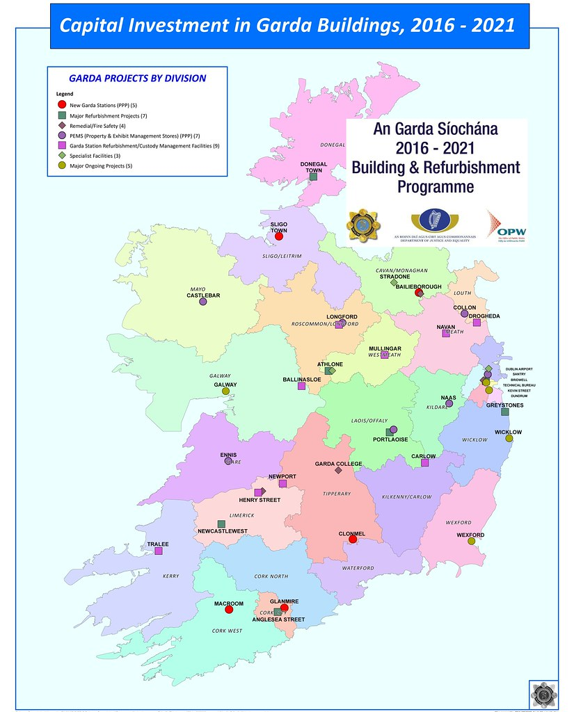 Map Of Ireland Indicating Locations For Capital Investment Flickr