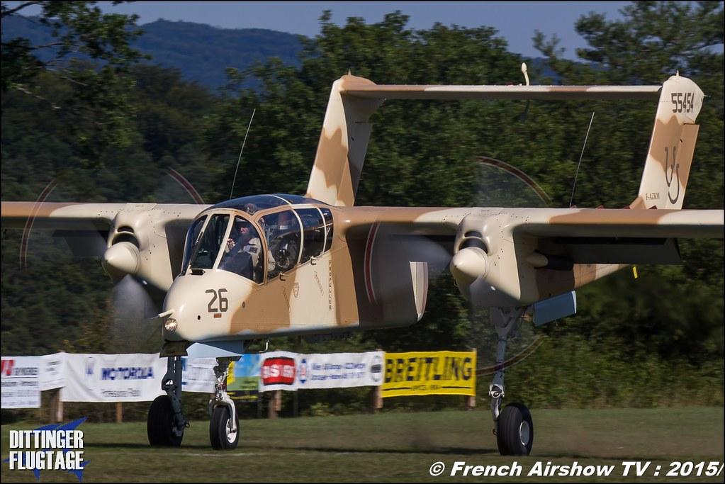 OV-10 Bronco, North American Rockwell OV-10B Bronco, F-AZKM, Musée Européen de l'Aviation de Chasse, Montelimar, France, Dittinger Flugtage 2015 , Internationale Dittinger Flugtage, Meeting Aerien 2015