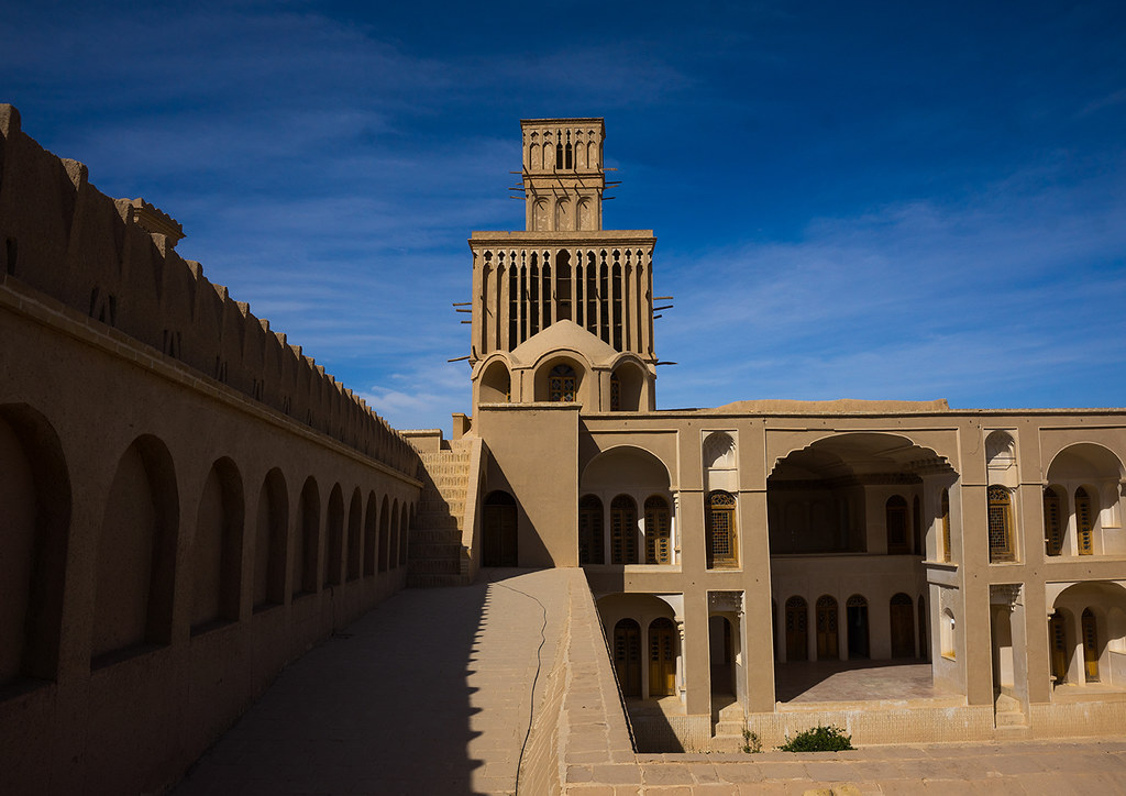 aghazadeh mansion wind towers used as a natural cooling sy flickr