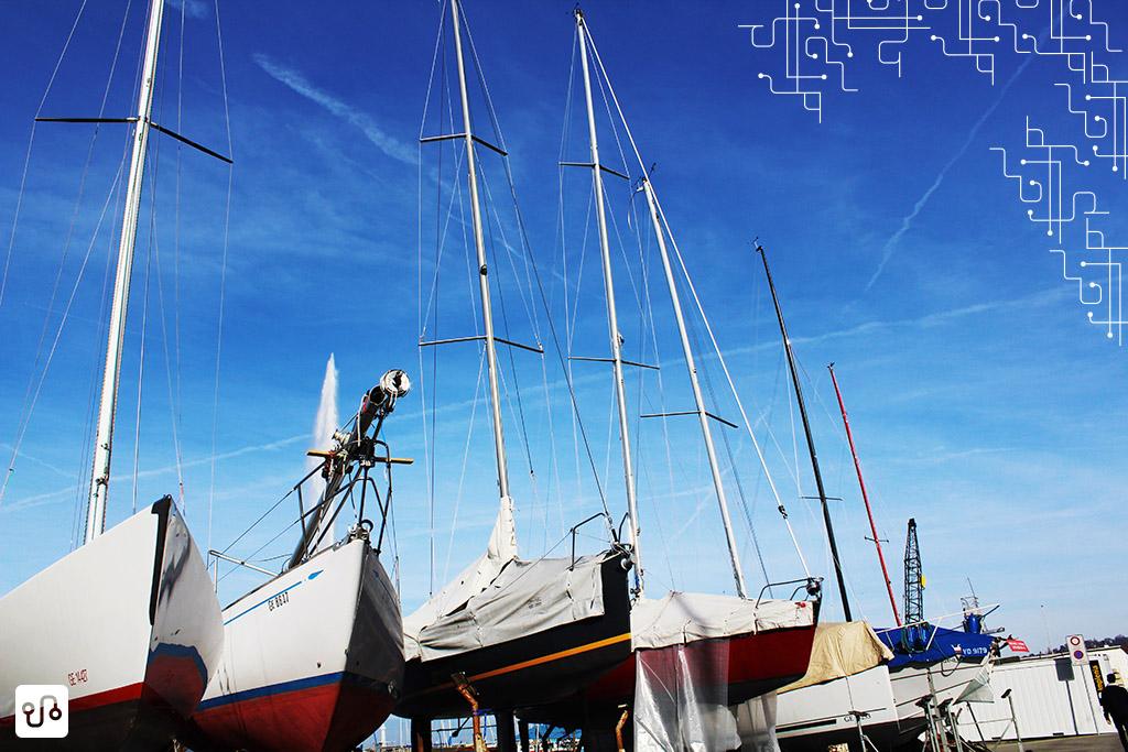 Barcos em Geneva. Fotos com celular nunca mais