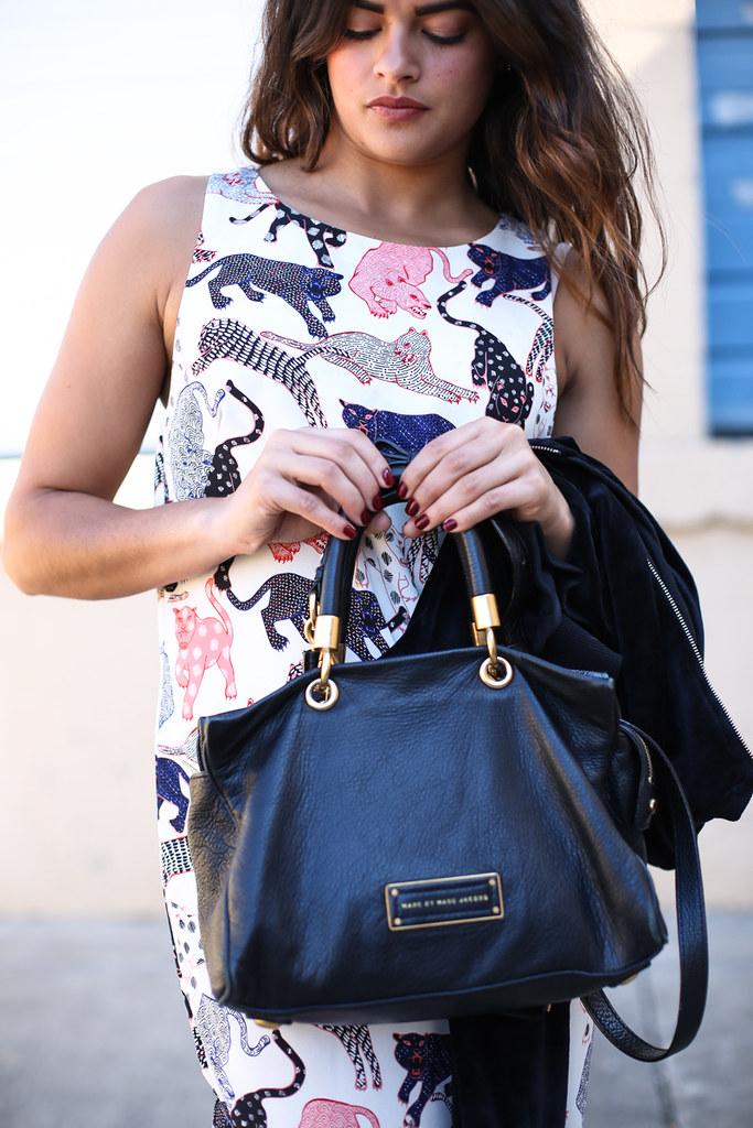 Priya the Blog, Nashville fashion blogger, H&M colorful leopard dress