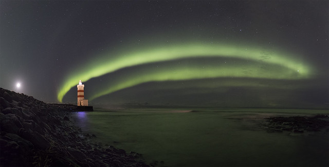 Pano of the lighthouse in Garður