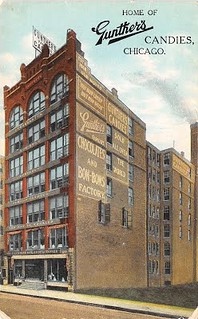 Postcard Home of Gunther's Candies, Chicago