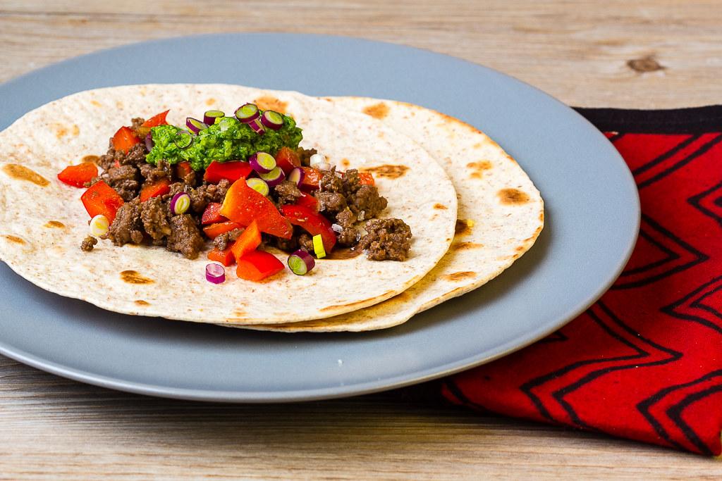 Tacos mit Rindfleich chinesischer Art via lunchforone