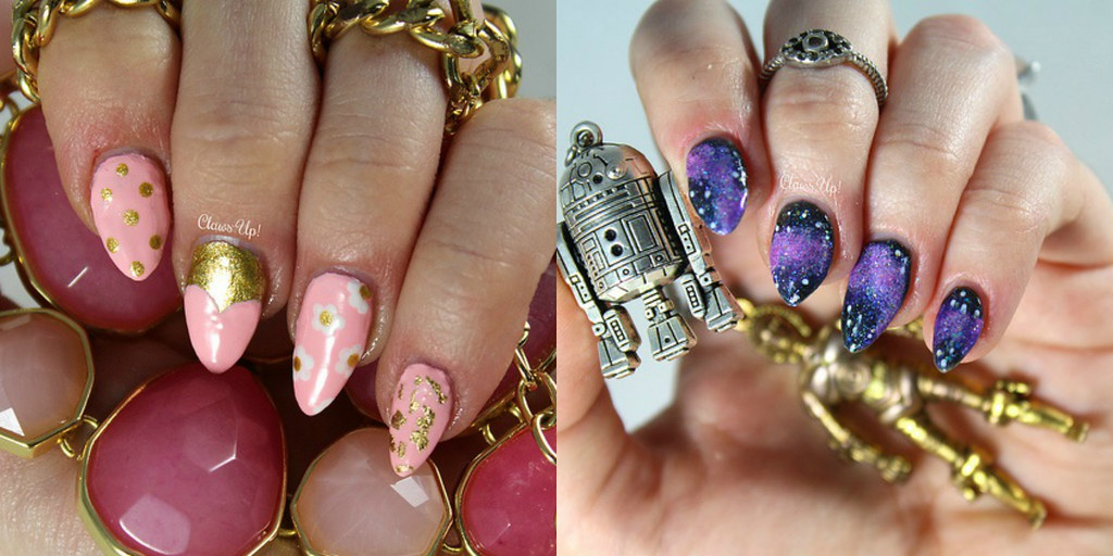 Nail art by Claws Up in January 2017