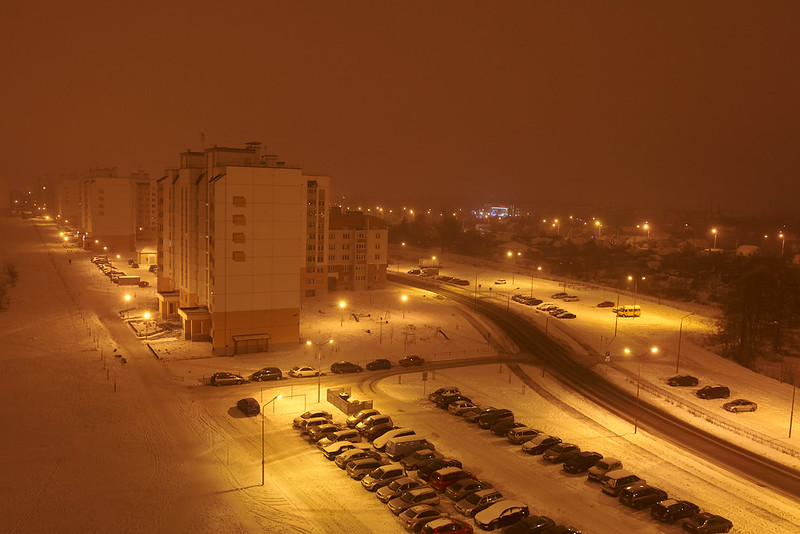 Снежное небо над Брестом