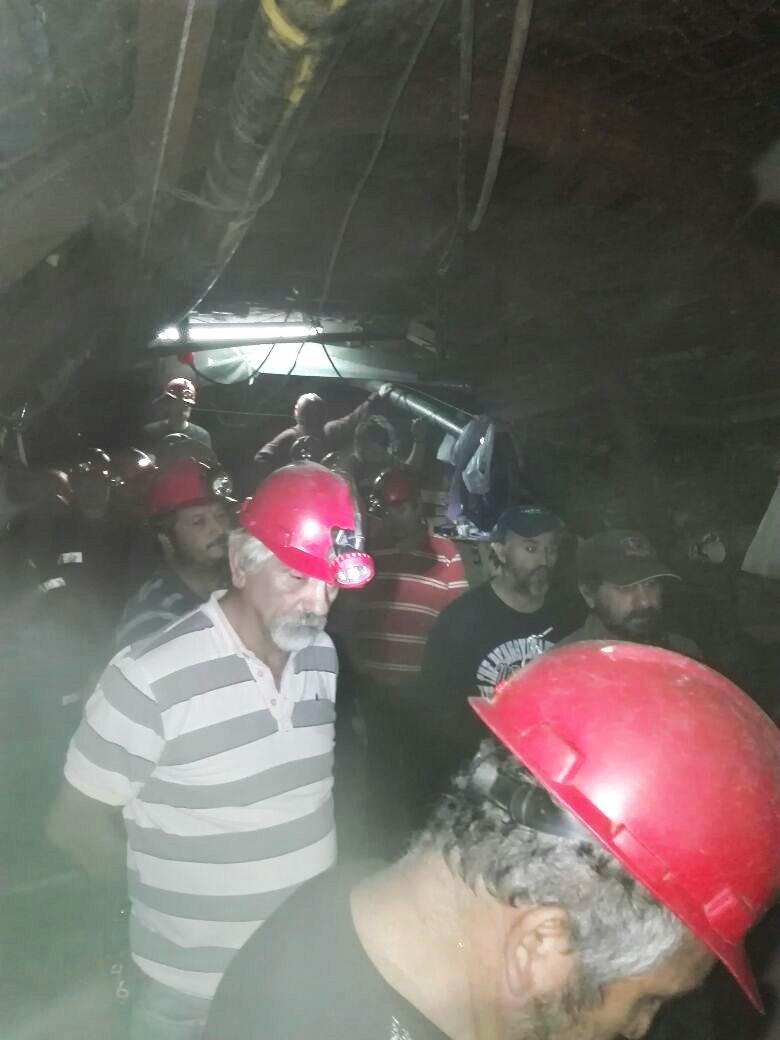 Lenga ayuda a mineros en Curanilahue