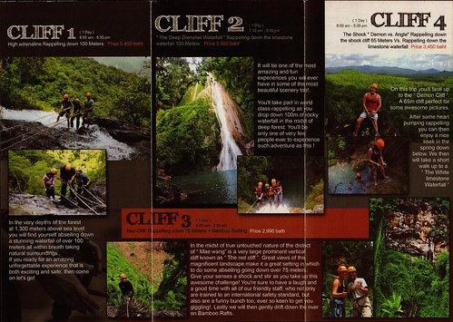 Brochure Cliff Top Adventures Chiang Mai Thailand 2