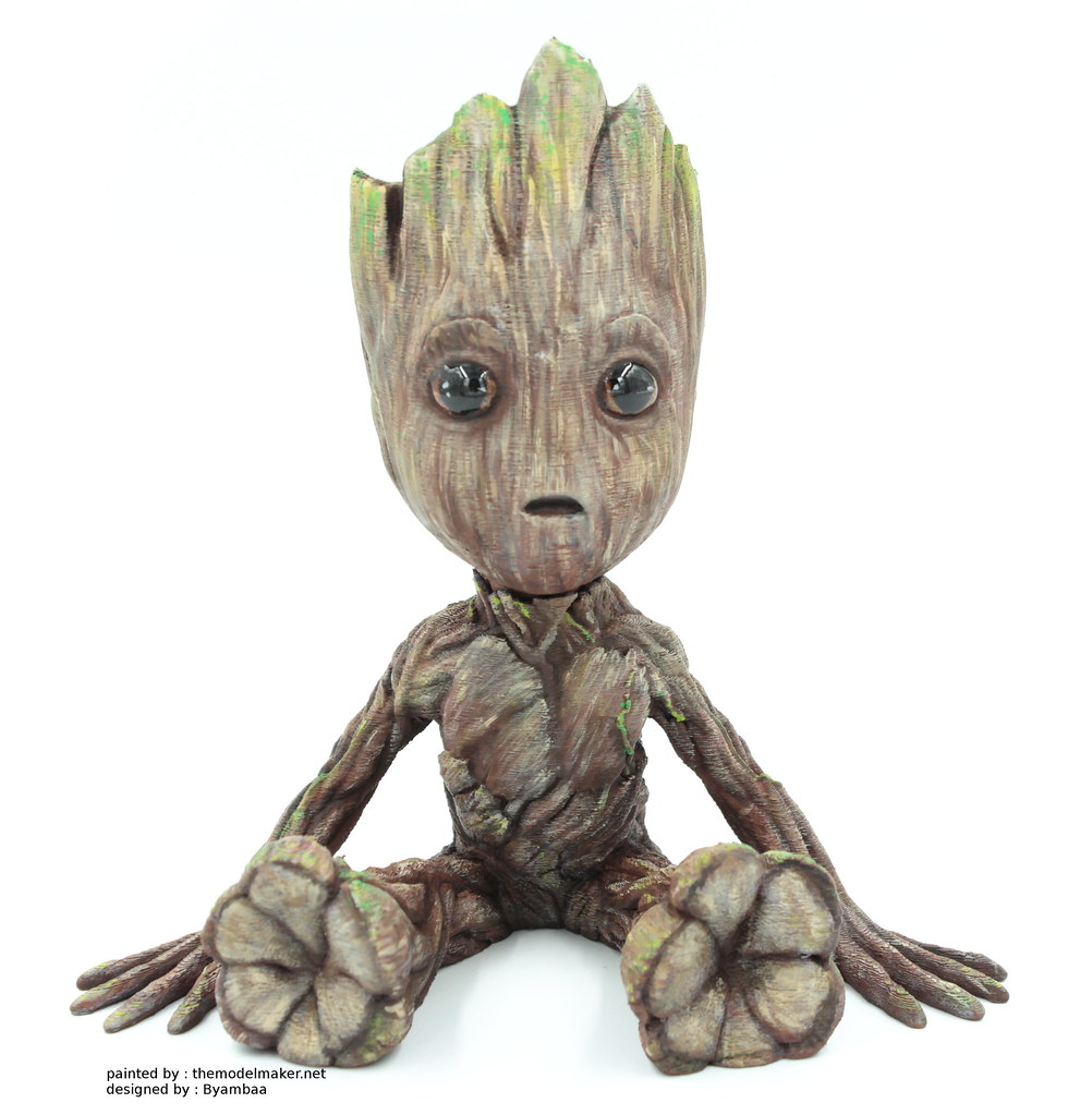 Baby Groot painting from Guardians of the Galaxy.