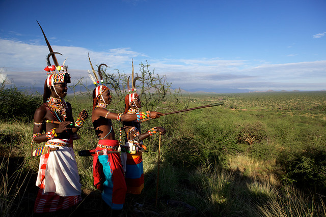 photo of Samburu warriors