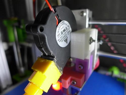 5015渦輪接塑膠蛇管風扇