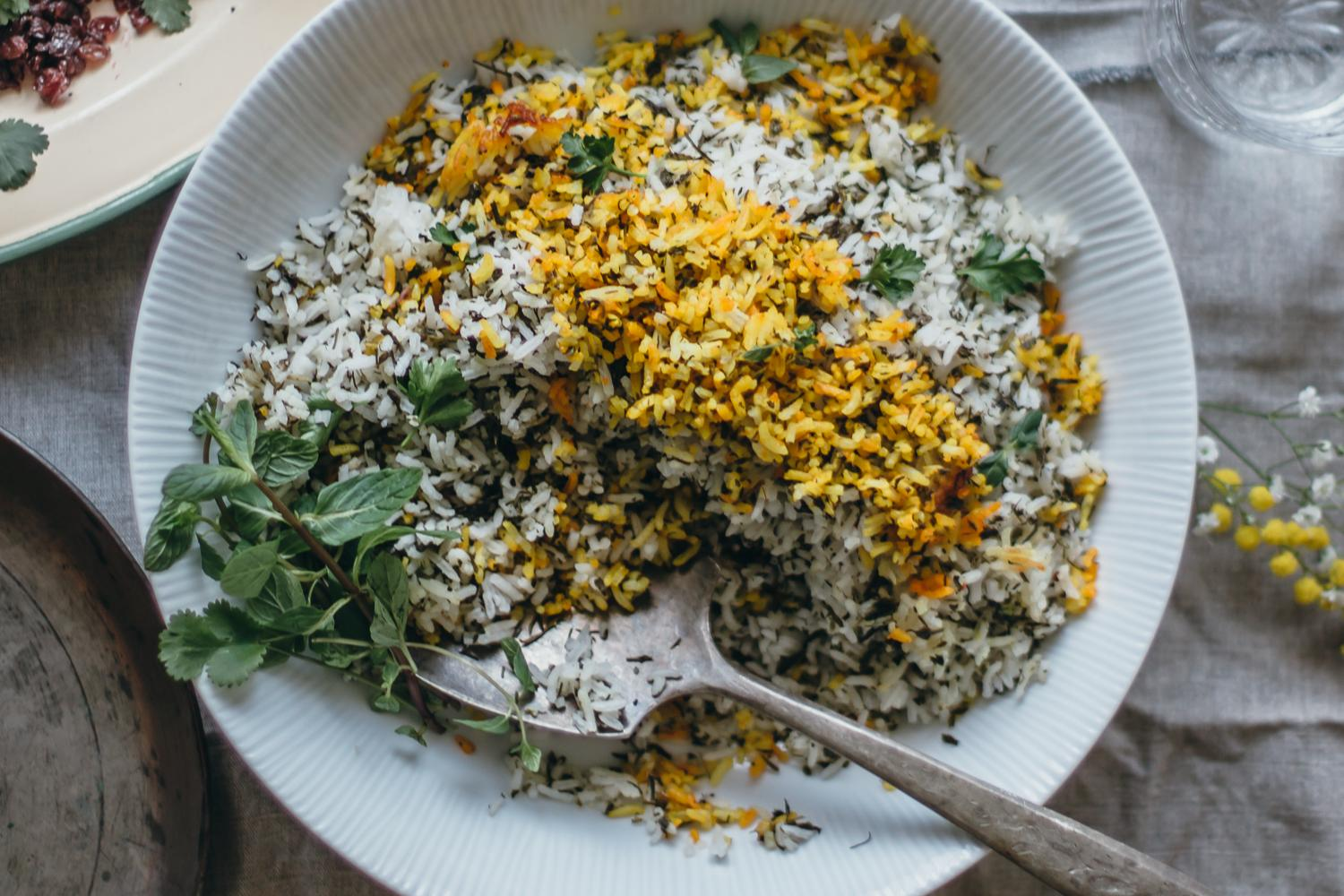 Persian Herby Pilaf and Fish - Sabzi Polo Mahi | Lab Noon by Saghar Setareh-9