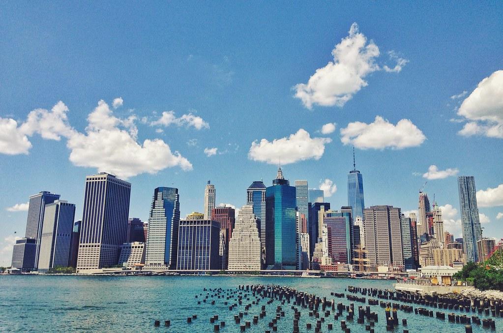 Manhattan vista do Brooklyn.