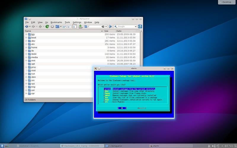 Скриншоты Slackware