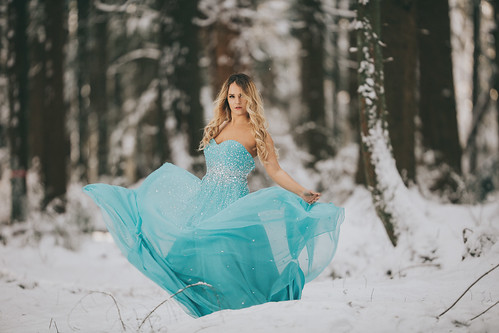 Blue dress in the snow | by RW-Photography