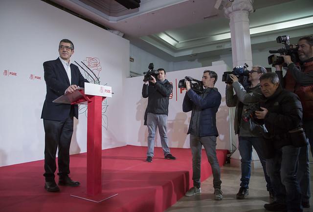 Patxi López se presenta como candidato a Secretario General del PSOE