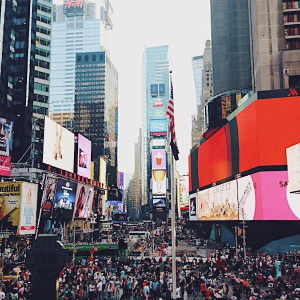 Times Square de dia.