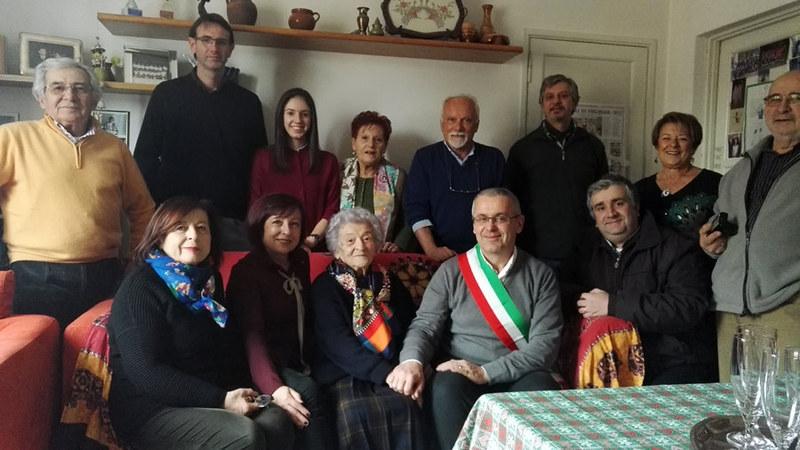 Lunedì 30 gennaio Olga Tozzi ha compiuto 101 anni