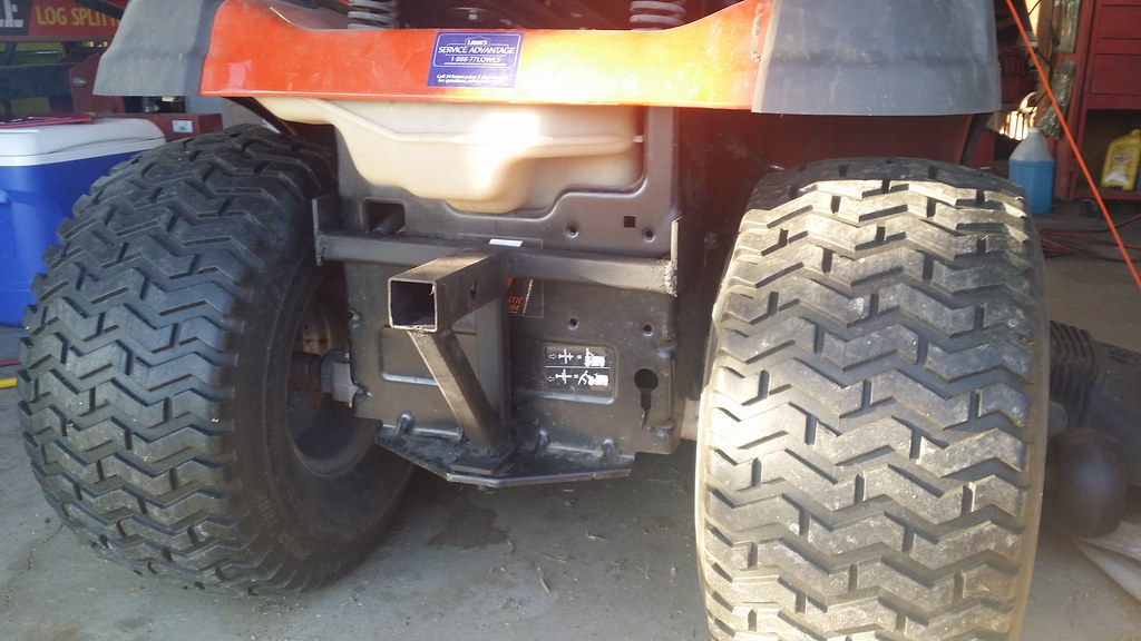 Lawn Tractor Hitch Receiver : Made a receiver hitch for my husqvarna mytractorforum