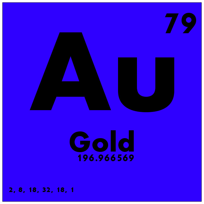 079 Gold Periodic Table Of Elements Watch Study Guide W Flickr