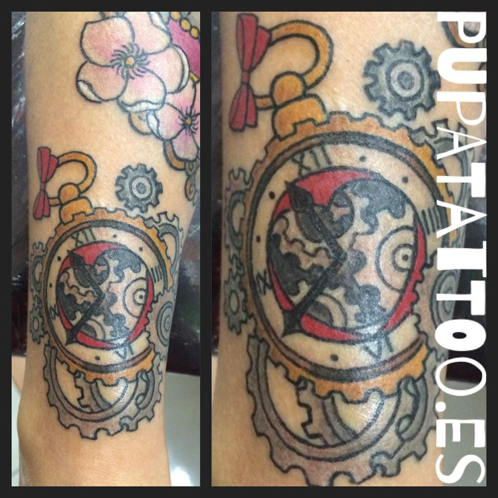 Tatuaje Engranaje Pupa Tattoo Granada Pupa Tattoo Art Gall Flickr
