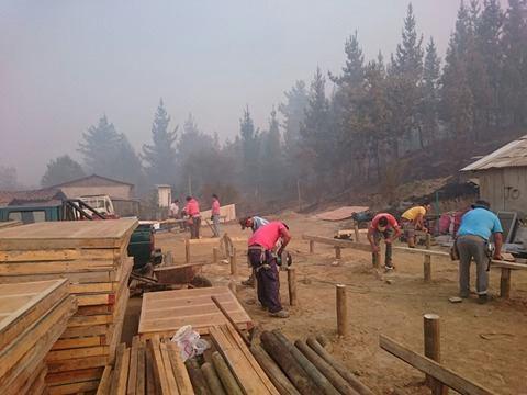 Lirquen construye casas en Santa Olga