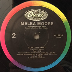 MELBA MOORE:LOVE THE ONE I'M WITH(A LOT OF LOVE)(LABEL SIDE-B)