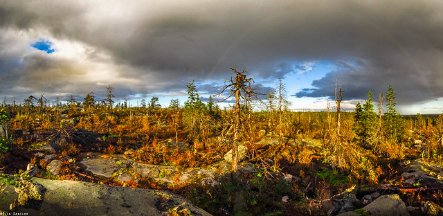 A rainbow over the Vottovaara