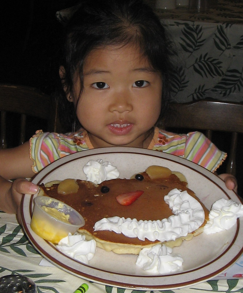 Cokie and her pancake