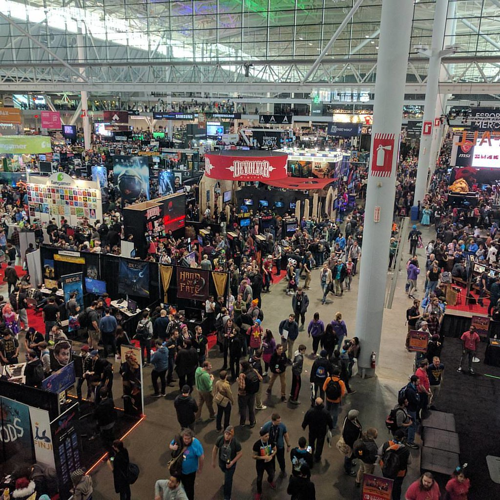 #PAX East hoards of people.