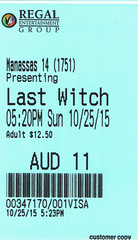 The Last Witch Hunter ticketstub