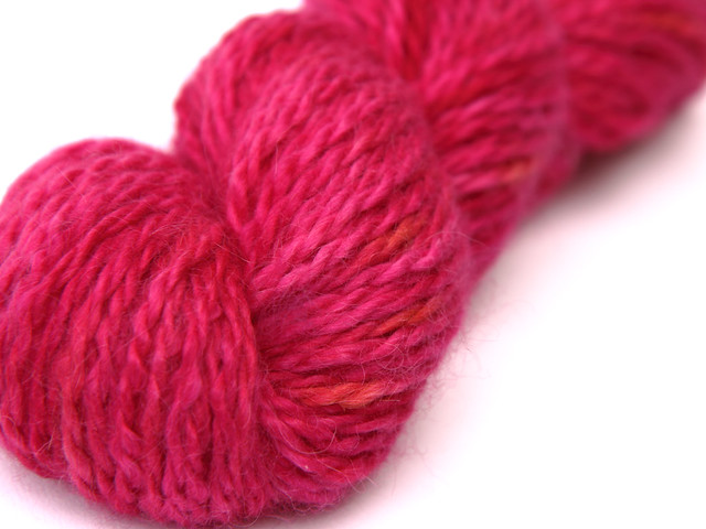 Marshmallow Cloud Baby Alpaca Chunky hand dyed yarn 'Hot Thing'