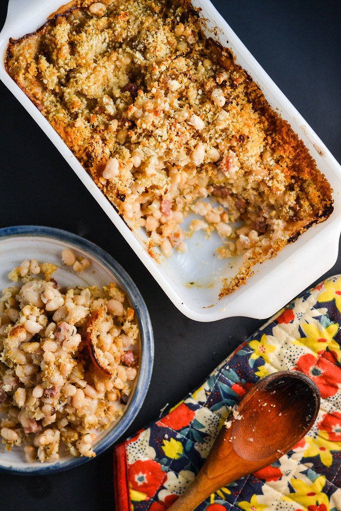 Baked Navy Beans With Pancetta | Things I Made Today