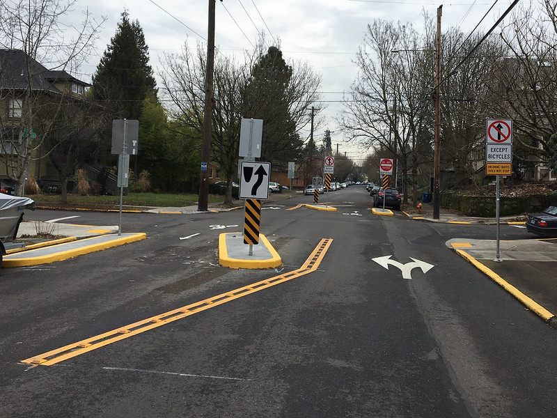 new permanent traffic diverter on SE Clinton at 32nd-1.jpg